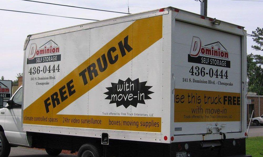 Chesapeake, VA Self Storage free truck with unit rental