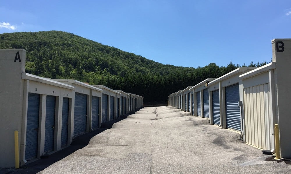 A view of our storage units in Roanoke, VA.