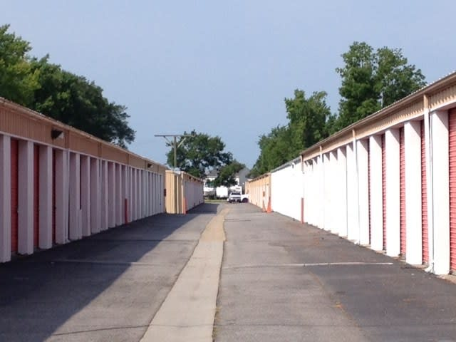 Walk the aisles of our clean and secure self storage facility