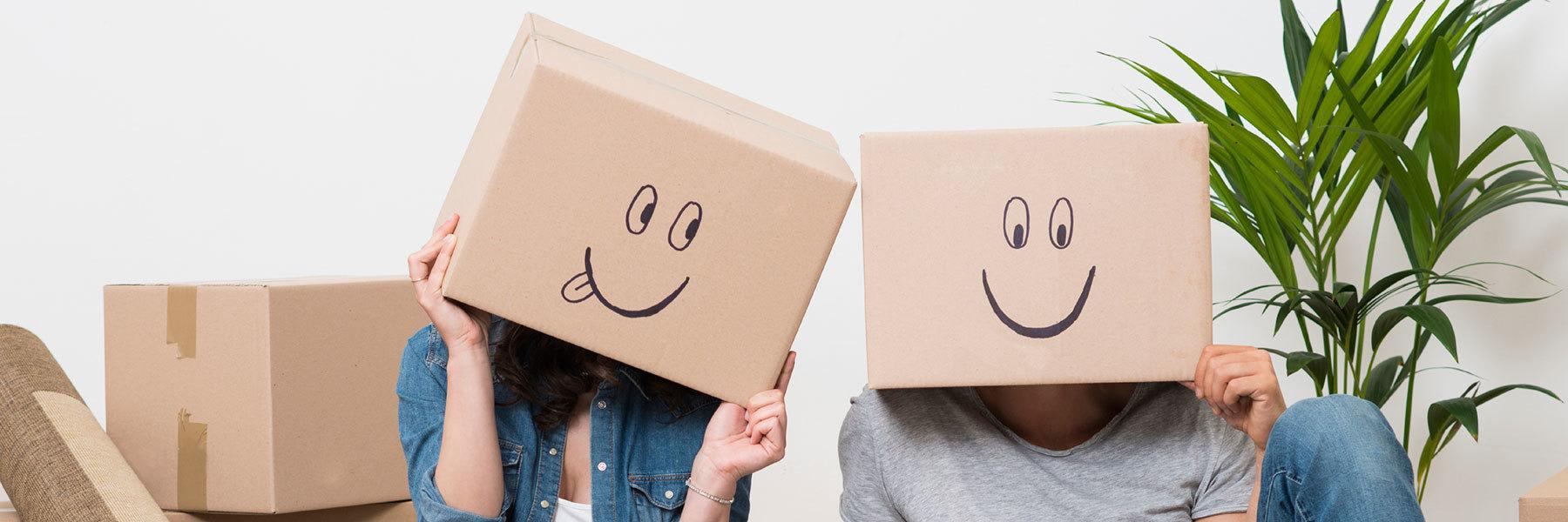 Funny box faces image