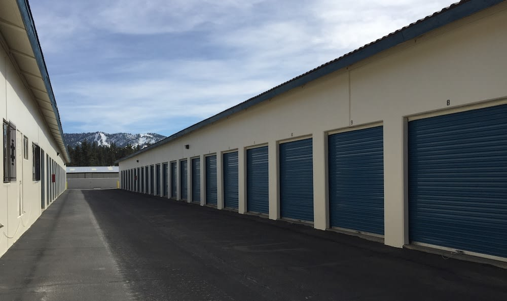 Drive Up units at our storage facility in Big Bear