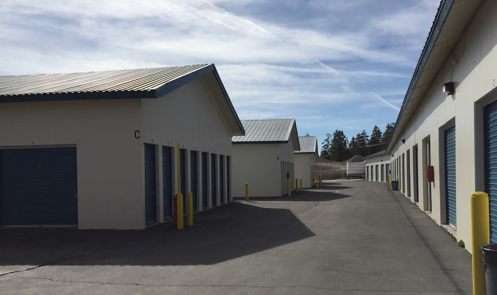 Drive up units and security features of our storage facility in Big Bear Lakes