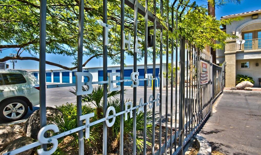 Security gates at Best Storage in Henderson