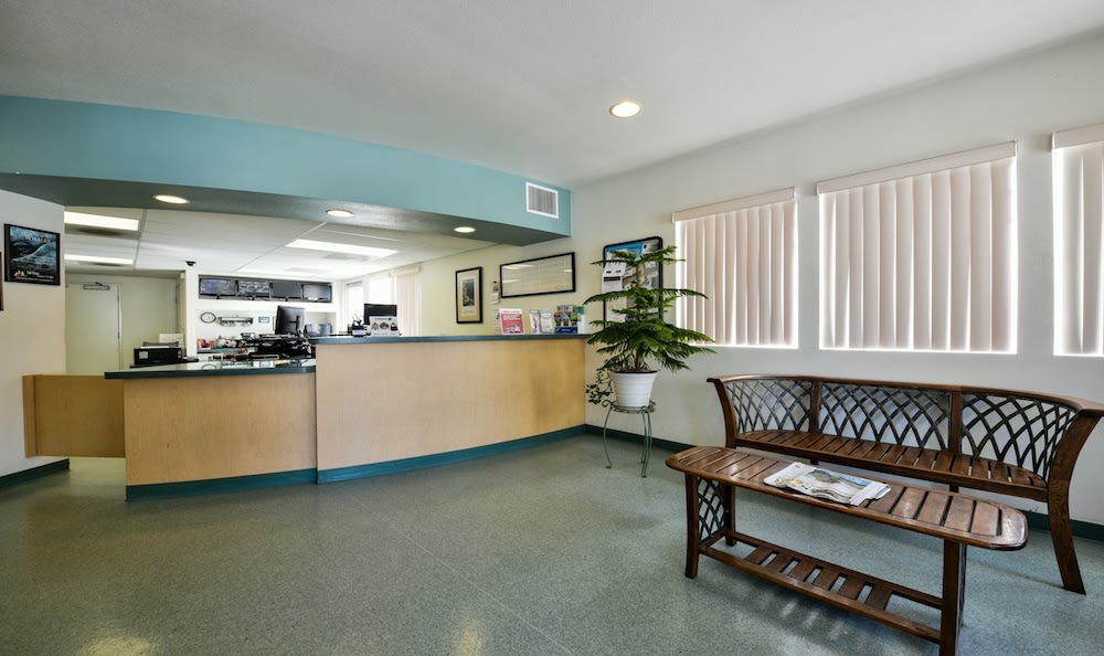The welcoming office of Channel Islands Self Storage in Port Hueneme, CA
