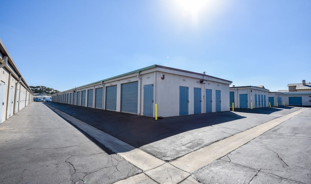 Small and large drive up units at Channel Islands Self Storage in Port Hueneme, CA