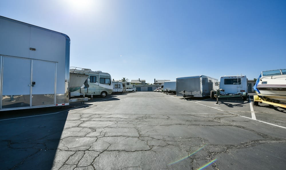 RV Parking and Boat storage at Channel Islands Self Storage in Port Hueneme, CA