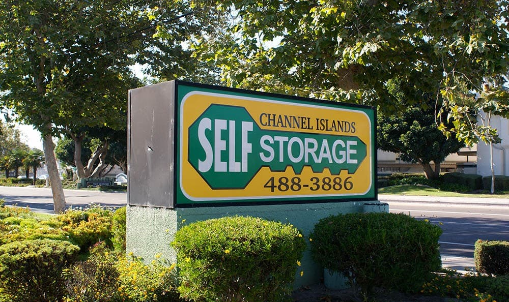 self storage in port hueneme california sign