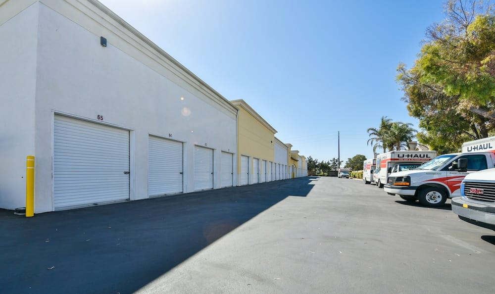 drive up units and u-haul rentals at our storage facility at Carriage Square in Oxnard