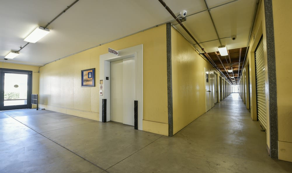 elevator and indoor units at our storage facility at Carriage Square in Oxnard