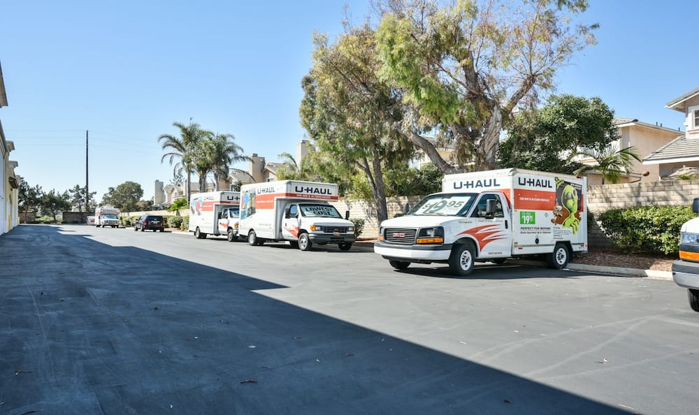 u-haul rentals at our storage facility at Carriage Square in Oxnard