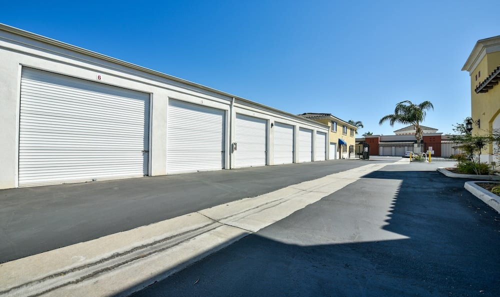 drive up units at our storage facility at Carriage Square in Oxnard