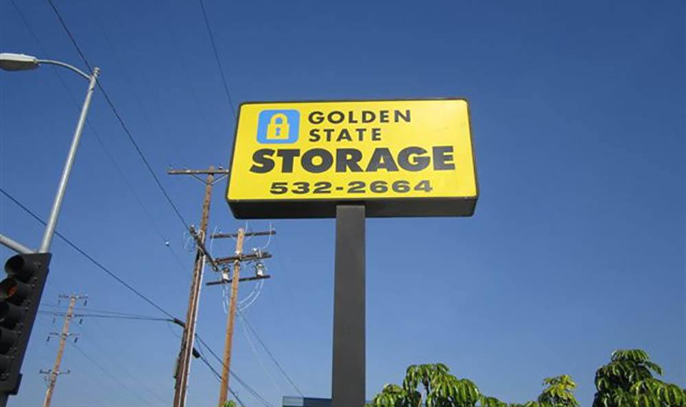 self storage in gardena california sign