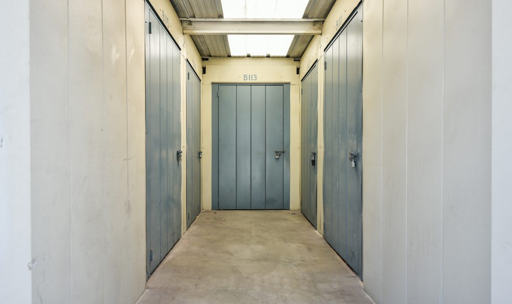 Hallway units at our storage facility in Northridge