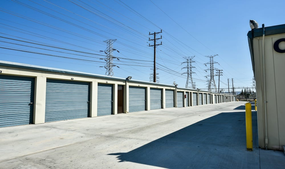Large drive up units at our storage facility in Northridge
