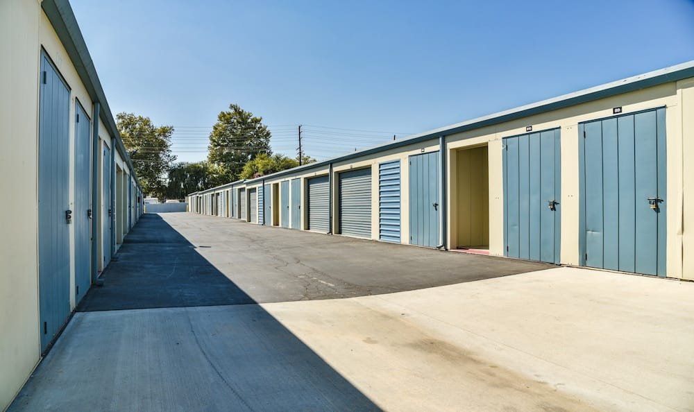 Drive up units at our storage facility in Northridge