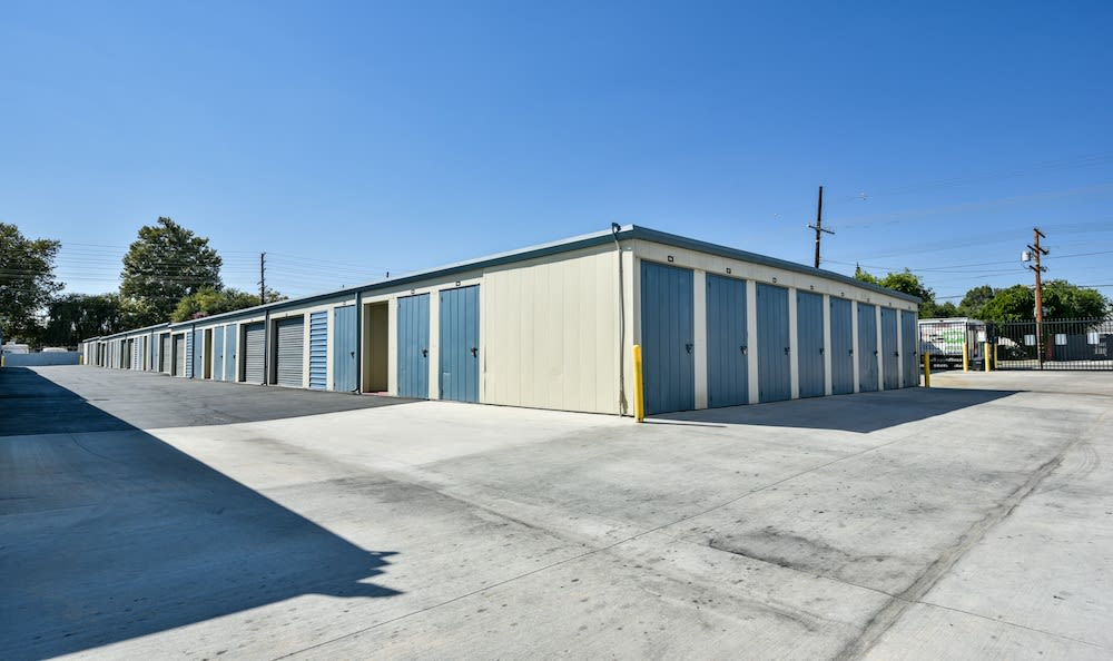 Small drive up units at our storage facility in Northridge