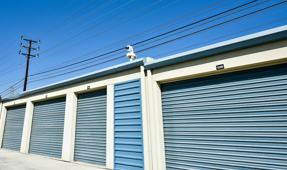 Drive up units and security features at our storage facility in Northridge