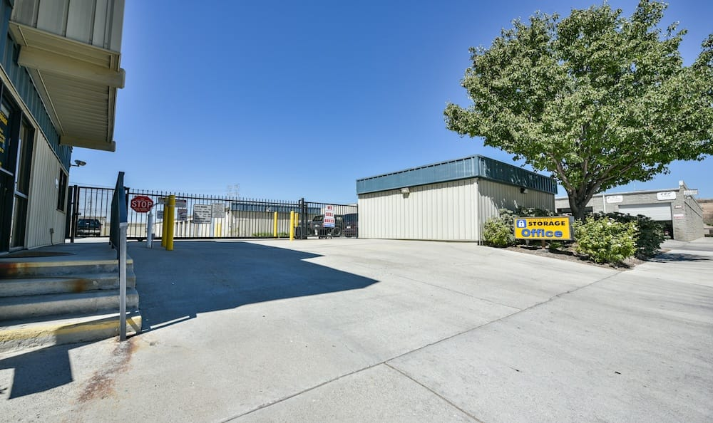 Entrance Driveway and Gate at our storage facility on Oak Avenue in Santa Clarita