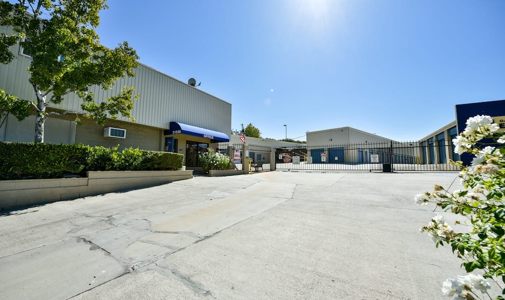 Welcoming entrance and office at our storage facility on Golden Triangle in Santa Clarita