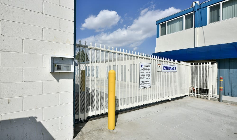Security features of our storage facility on Roscoe Boulevard in North Hills