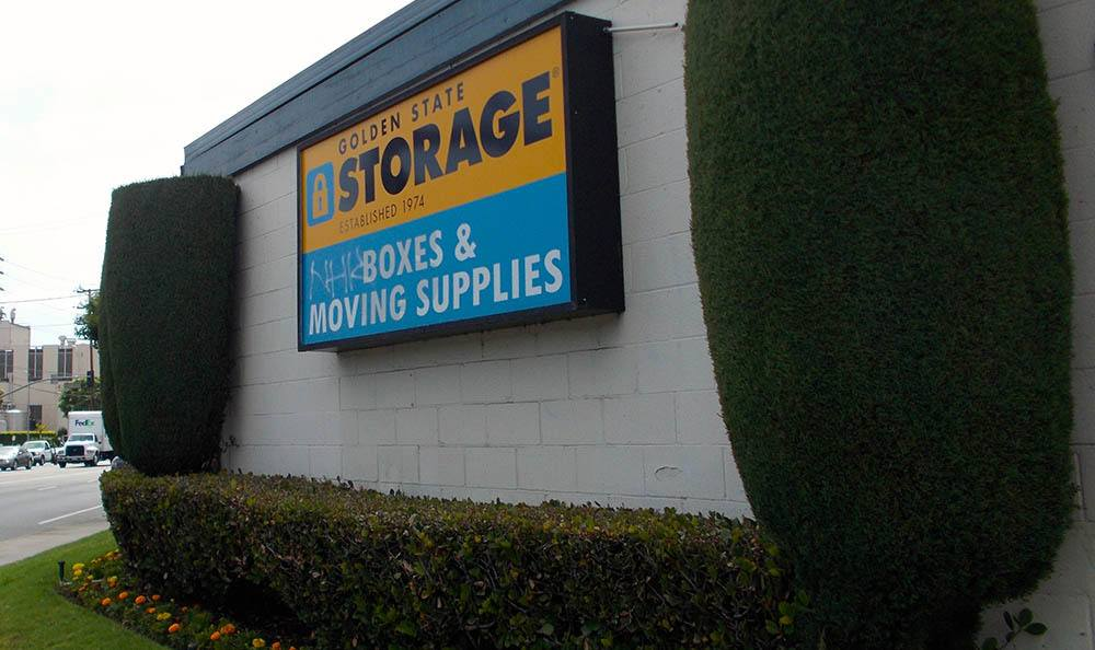 self storage in north hills california sign