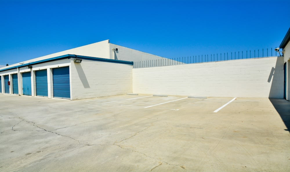 Tenant parking at our storage facility in Santa Fe Springs