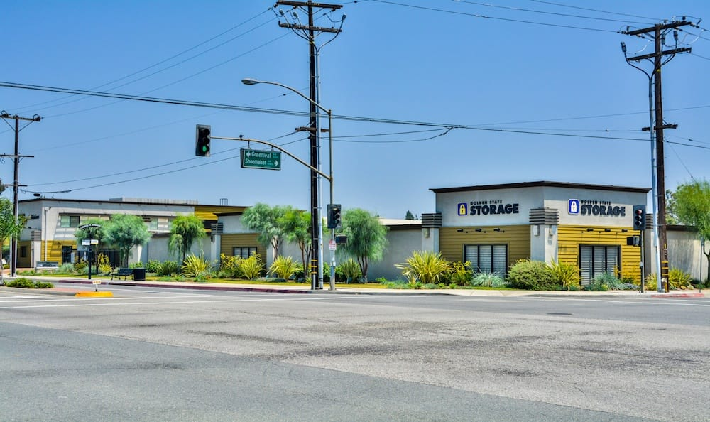 Street view of Golden State Storage in Santa Fe Springs
