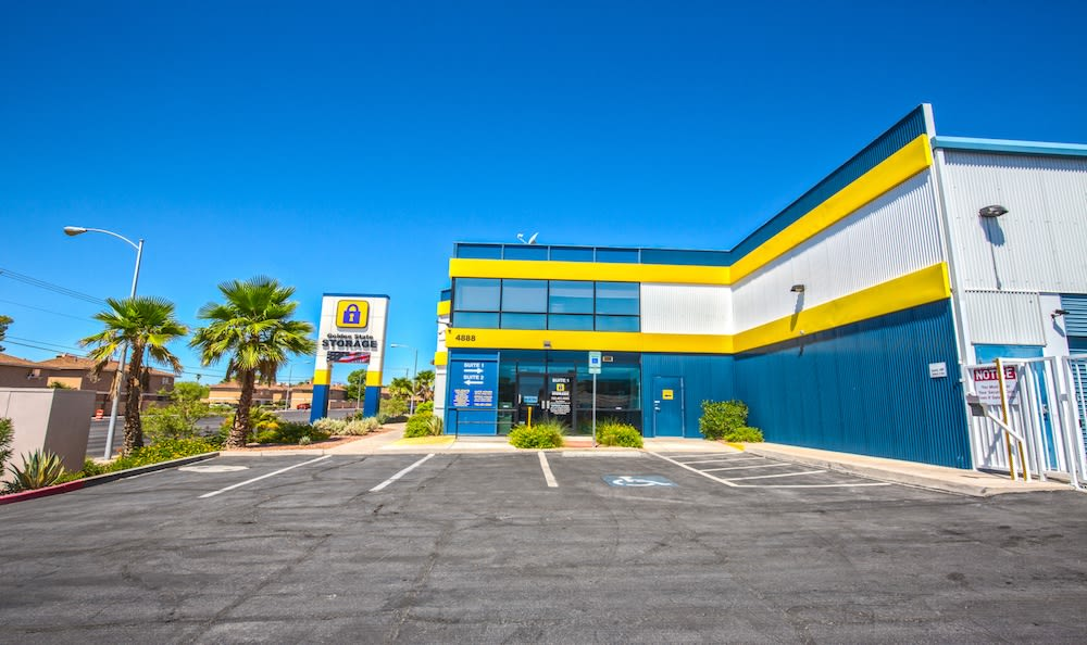 Office Entrance and Customer Parking at our storage facility on Tropicana Avenue in Las Vegas