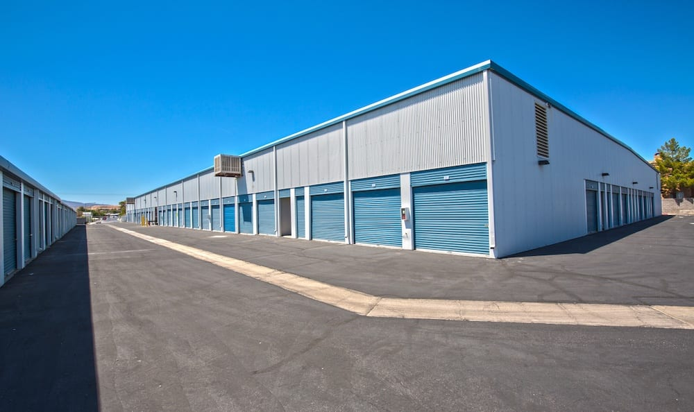 Storage buildings at our facility on Tropicana Avenue in Las Vegas
