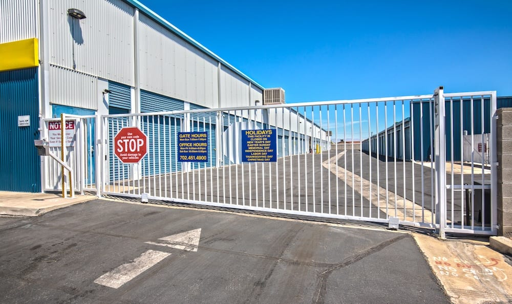 Security features of our storage facility on Tropicana Avenue in Las Vegas