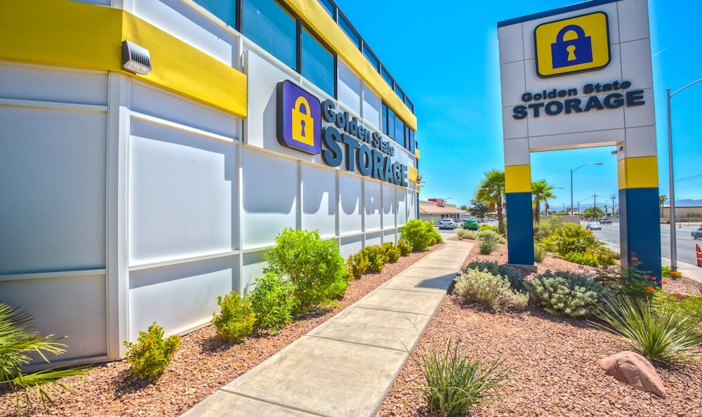 Landscaping and signage at our storage facility on Tropicana Avenue in Las Vegas