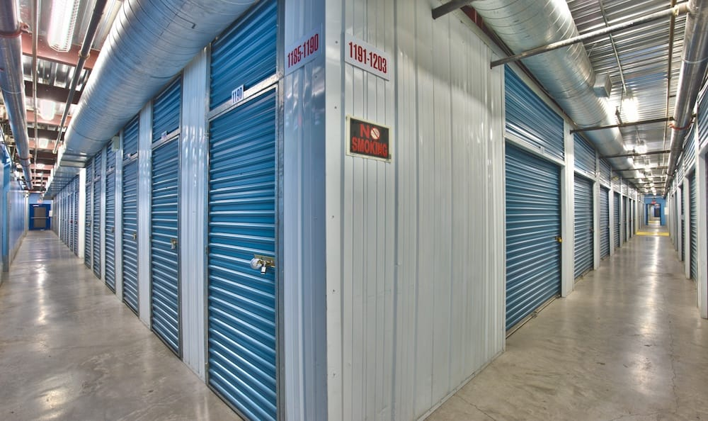 Indoor storage units at our facility on Tropicana Avenue in Las Vegas