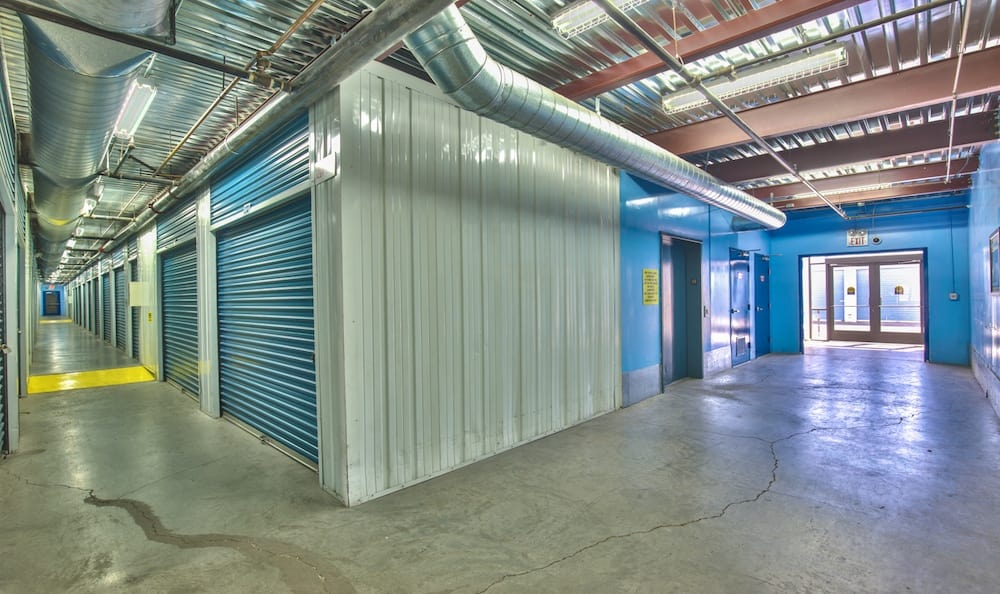 Convenience elevator and indoor storage units our facility on Tropicana Avenue in Las Vegas