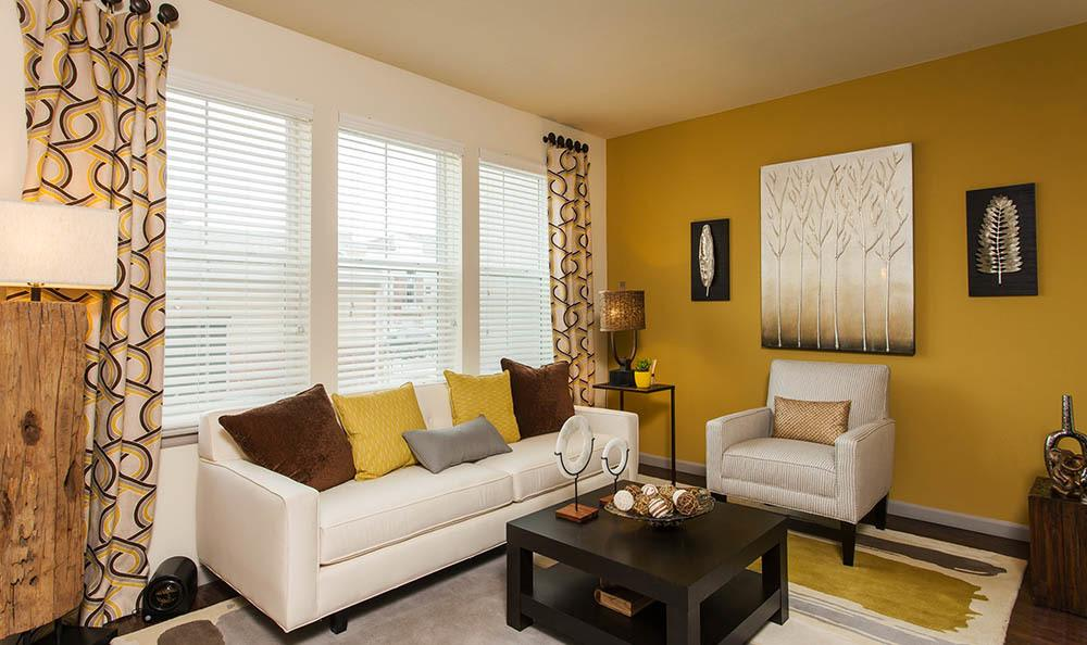 Spacious Living Room At Harvest Station Apartments In Broomfield CO