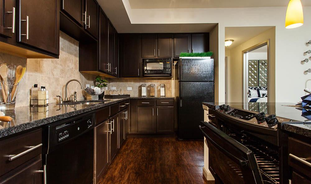 Two Bedroom kitchen At Harvest Station Apartments In Broomfield CO