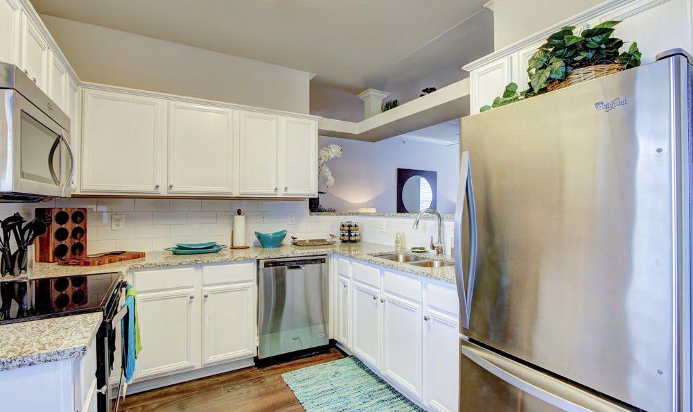 Kitchen At Meridian Apartments In San Antonio TX