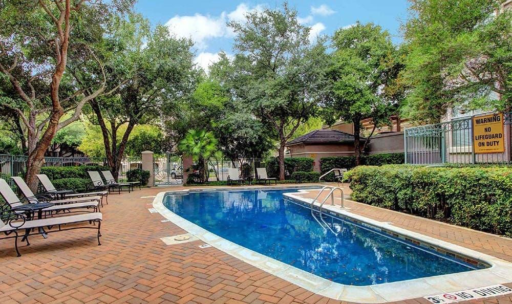 Pool At Meridian Apartments In San Antonio TX