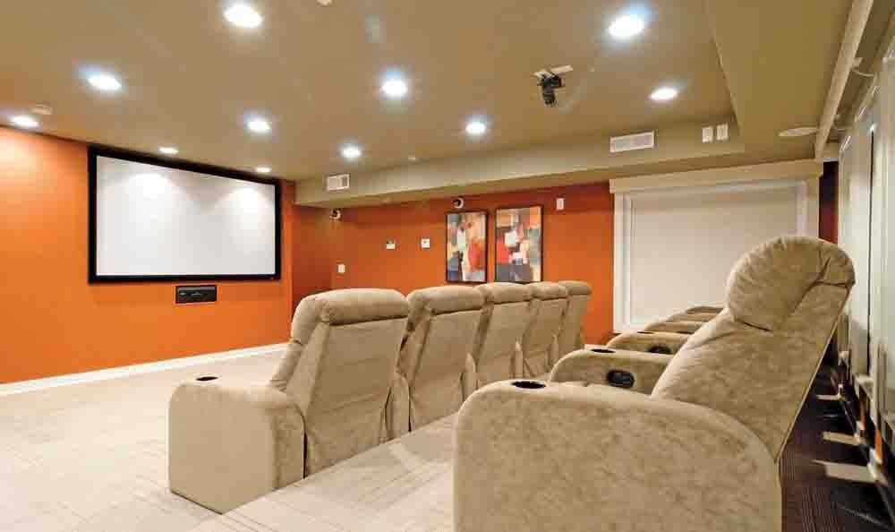 Movie theater at The Residences at Vinings Mountain in Atlanta