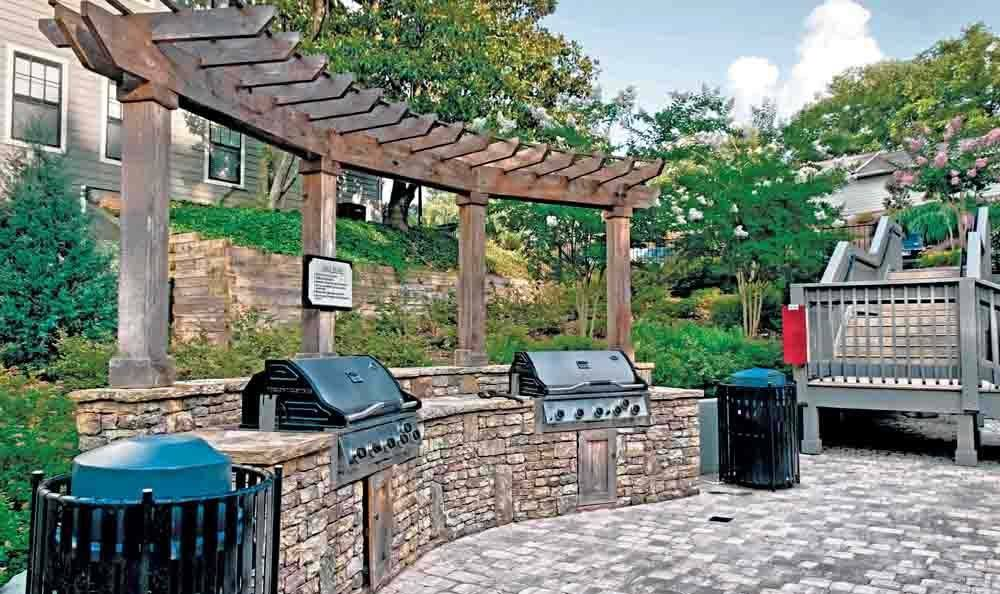 Grill area at The Residences at Vinings Mountain in Atlanta