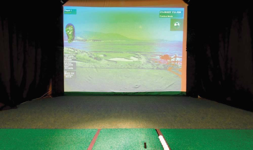 Golf game room at The Residences at Vinings Mountain in Atlanta