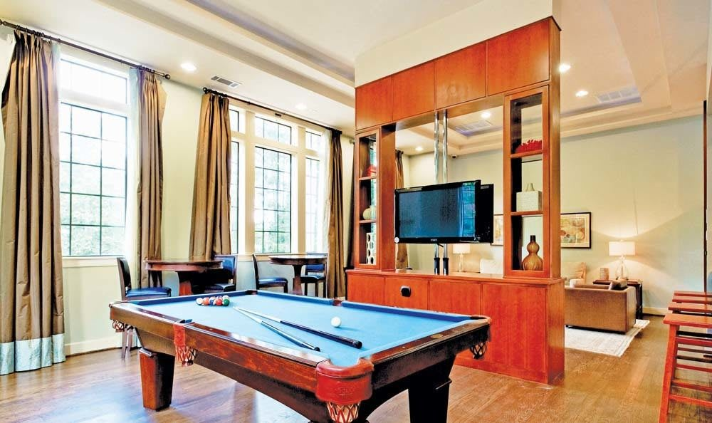 Entertainment room at The Residences at Vinings Mountain in Atlanta