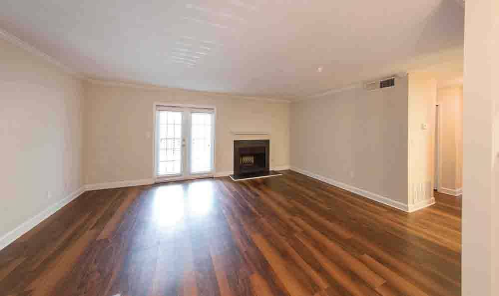 Spacious living room at The Residences at Vinings Mountain in Atlanta
