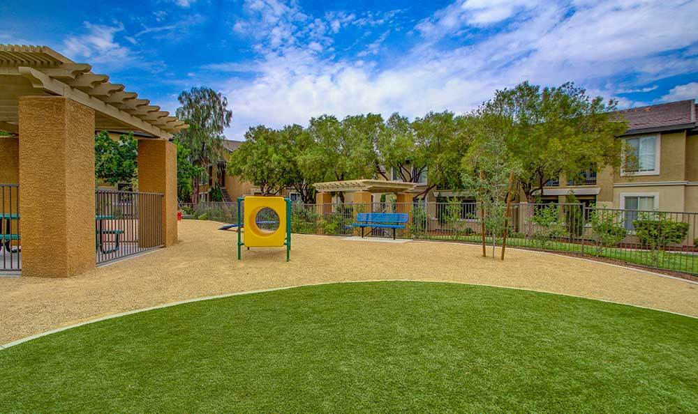 Childrens play area at Alicante Apartments in Las Vegas, Nevada