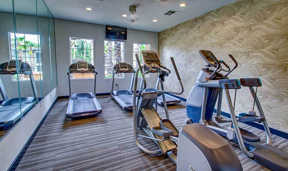 Workout equipment at Alicante Apartments in Las Vegas, Nevada
