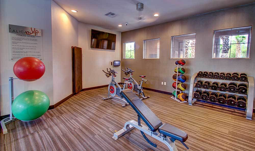 Fitness center at Alicante Apartments in Las Vegas, Nevada