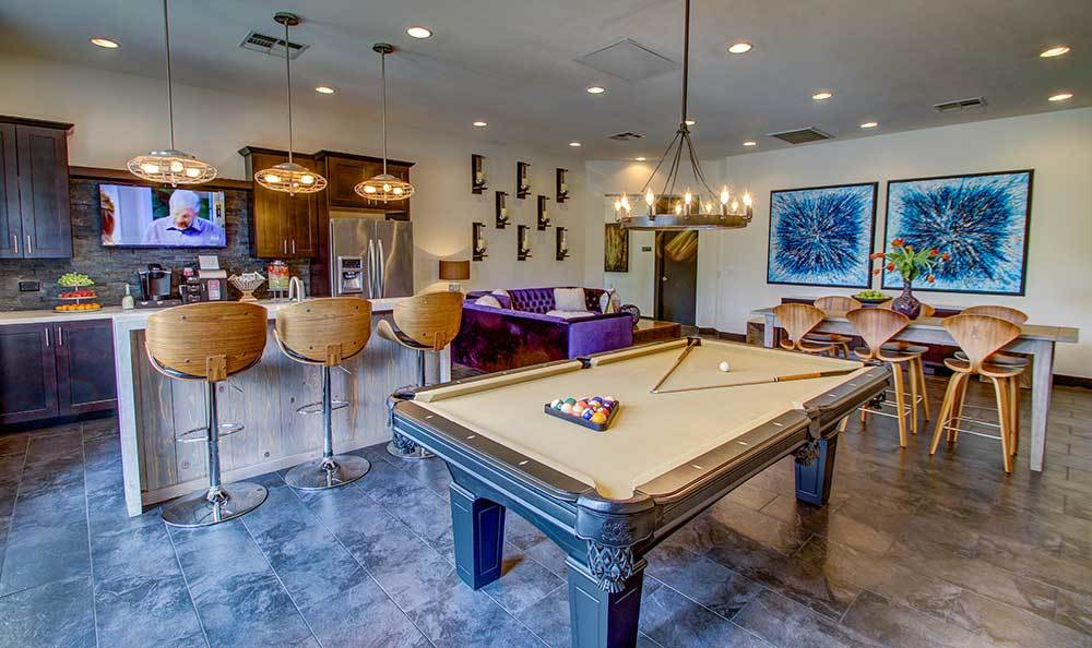Pool table at Alicante Apartments in Las Vegas, Nevada