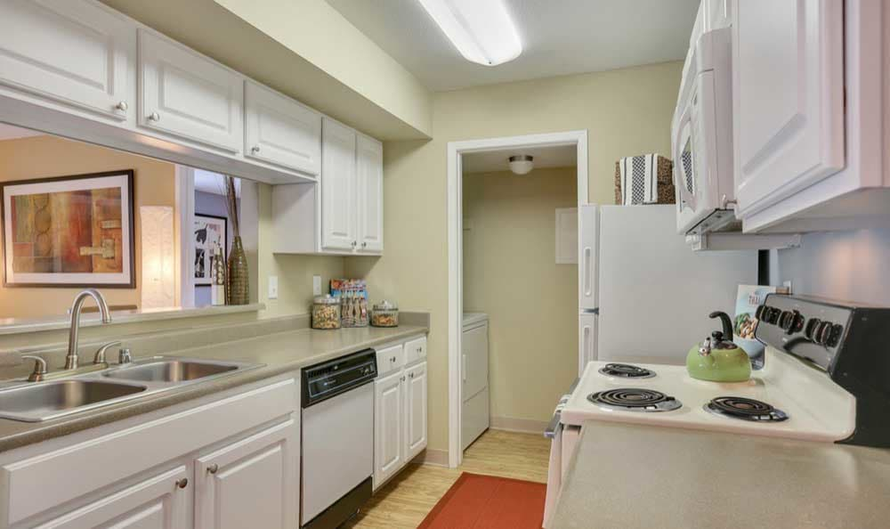 Nice clean kitchen in our Denver, CO apartments