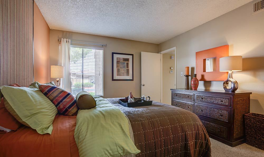 Fairways at Cave Creek's model bedroom in Phoenix
