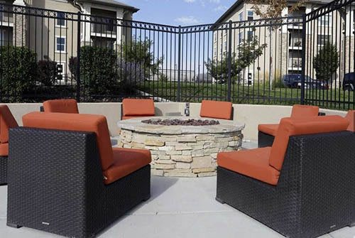 Firepit at Meadowbrook Station Apartments