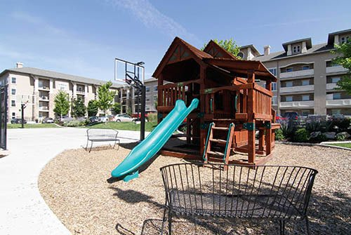 Playground for kids at Meadowbrook Station Apartments